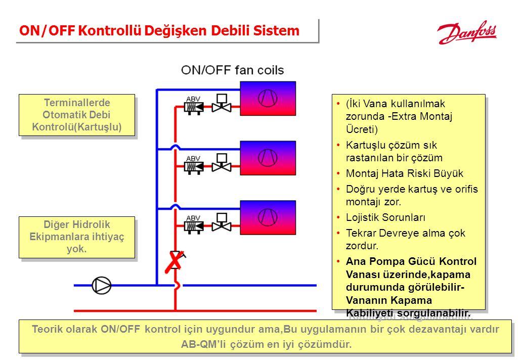 ON/OFF Kontrollü Değişken Debili Sistem