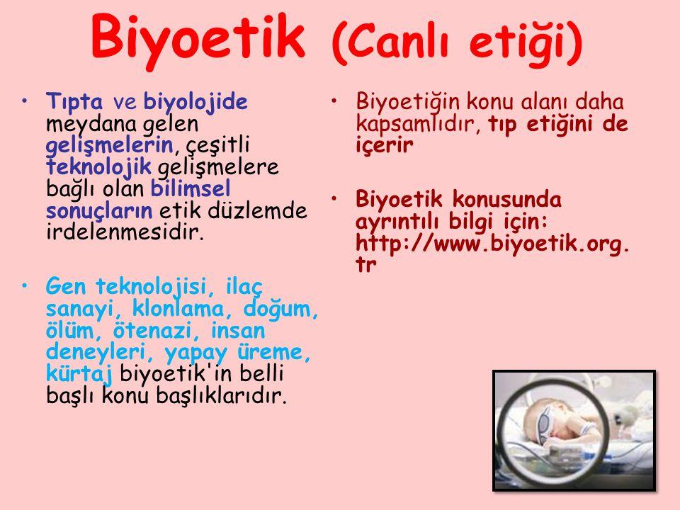 Biyoetik (Canlı etiği)
