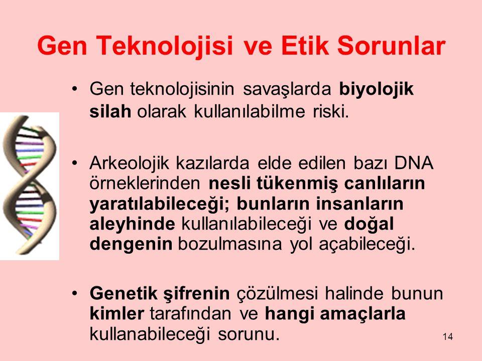 Gen Teknolojisi ve Etik Sorunlar
