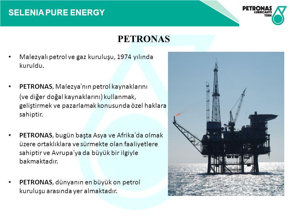 PETRONAS Malezyalı petrol ve gaz kuruluşu, 1974 yılında kuruldu.