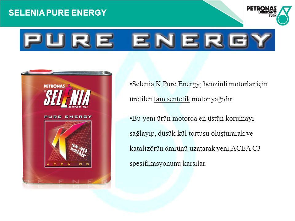 Selenia K Pure Energy; benzinli motorlar için üretilen tam sentetik motor yağıdır.