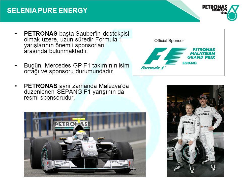 PETRONAS başta Sauber'in destekçisi olmak üzere, uzun süredir Formula 1 yarışlarının önemli sponsorları arasında bulunmaktadır.