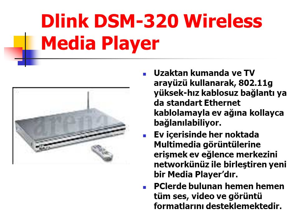 Dlink DSM-320 Wireless Media Player