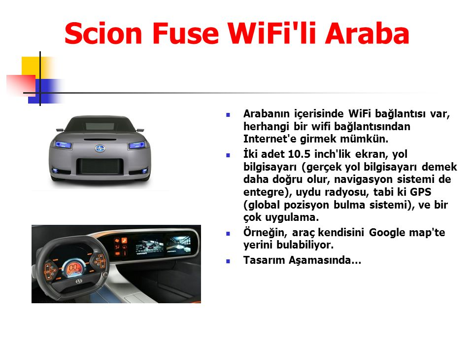Scion Fuse WiFi li Araba