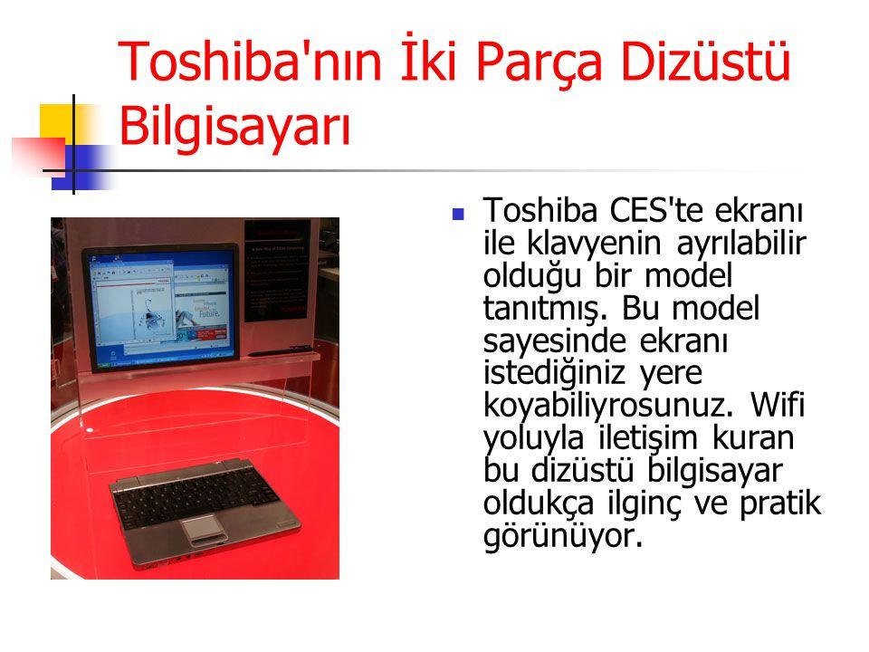 Toshiba nın İki Parça Dizüstü Bilgisayarı