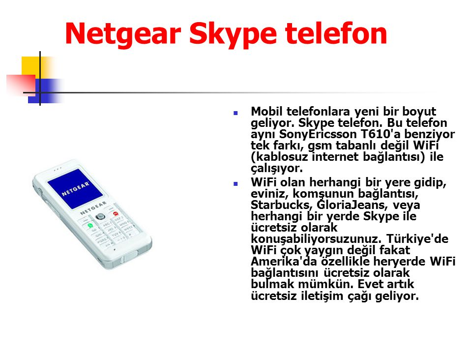 Netgear Skype telefon