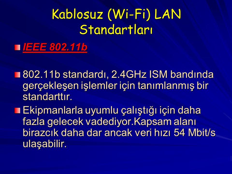 Kablosuz (Wi-Fi) LAN Standartları