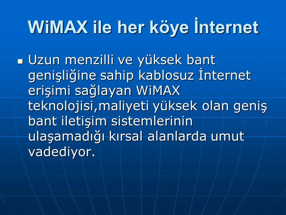 WiMAX ile her köye İnternet