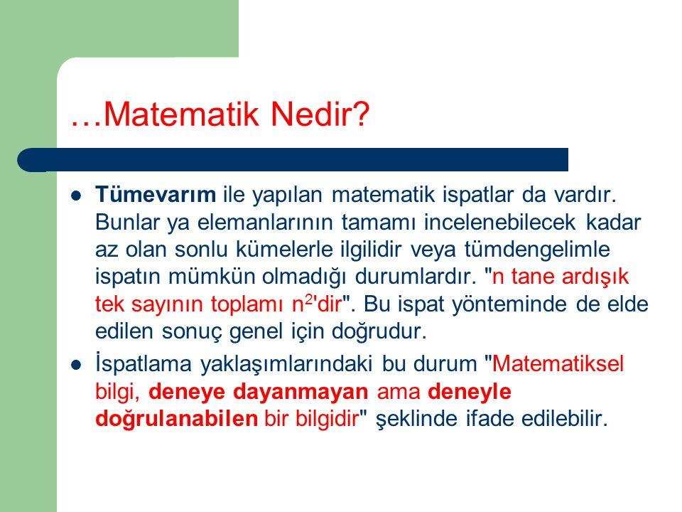 …Matematik Nedir