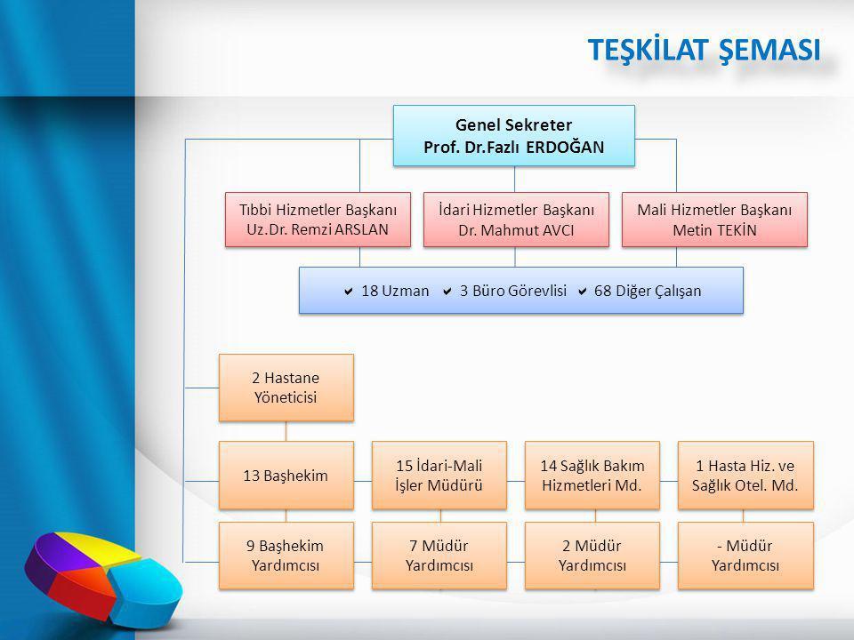 TEŞKİLAT ŞEMASI Genel Sekreter Prof. Dr.Fazlı ERDOĞAN