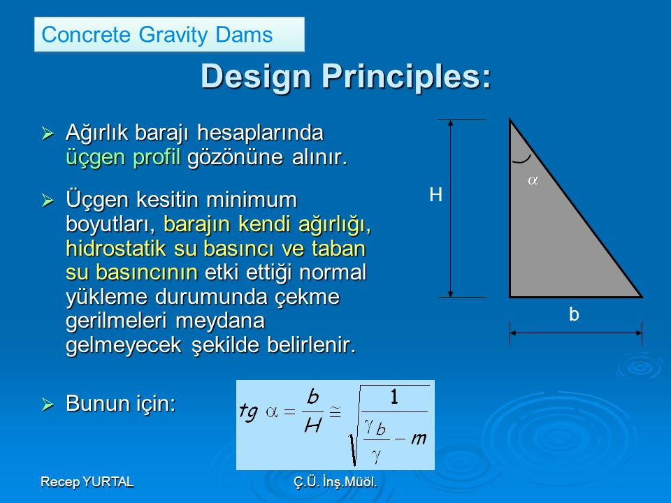 Design Principles: Concrete Gravity Dams