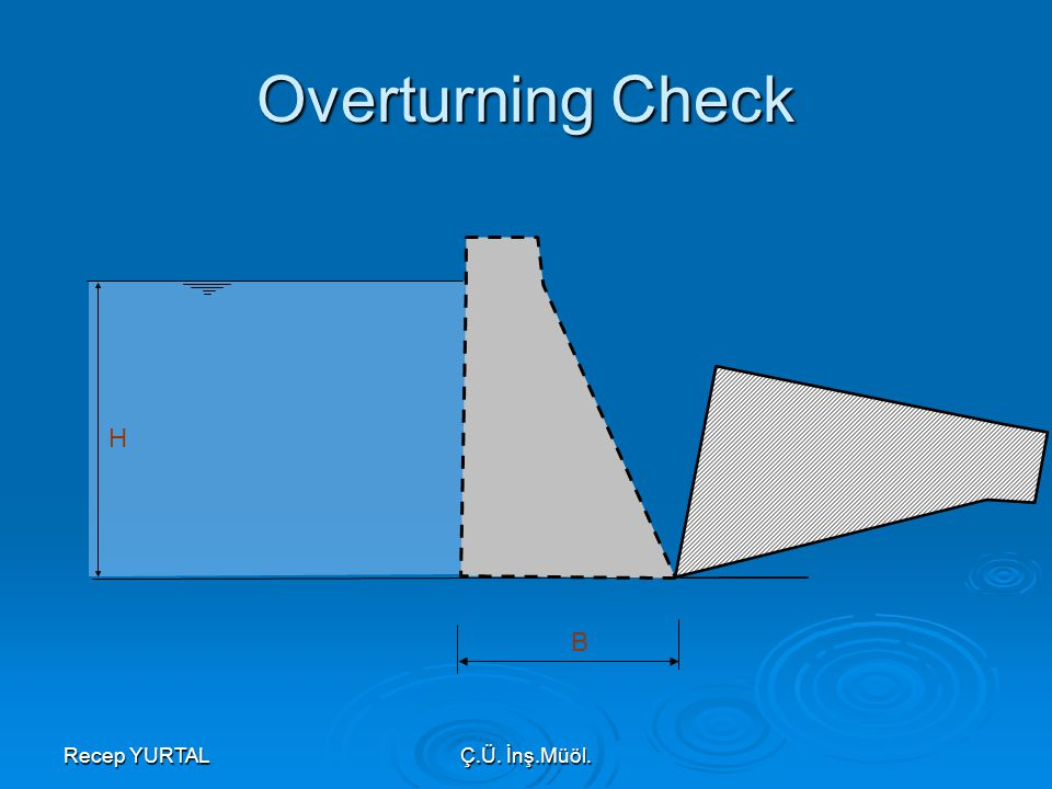 Overturning Check H B Recep YURTAL Ç.Ü. İnş.Müöl.