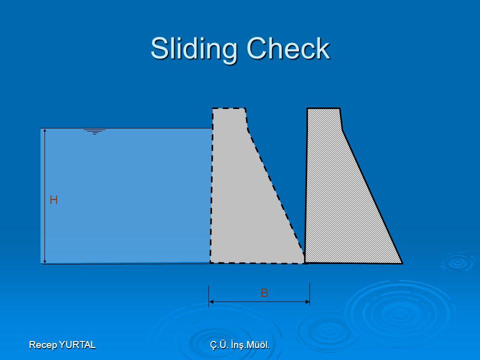 Sliding Check H B Recep YURTAL Ç.Ü. İnş.Müöl.