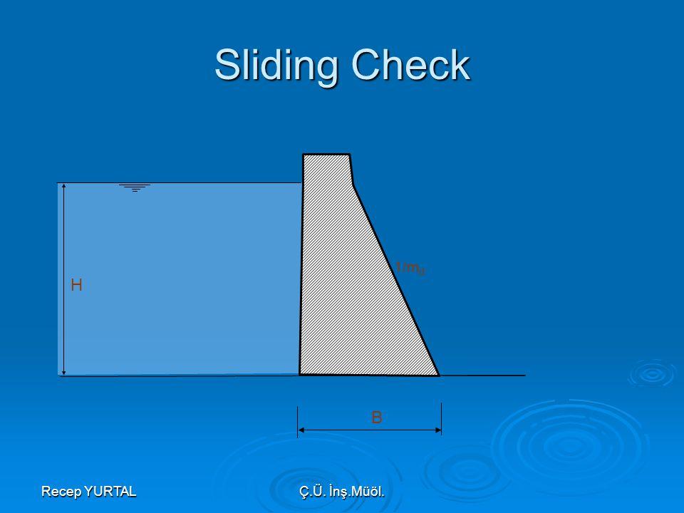 Sliding Check 1/md H B Recep YURTAL Ç.Ü. İnş.Müöl.