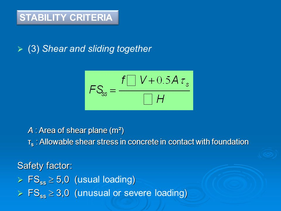 (3) Shear and sliding together