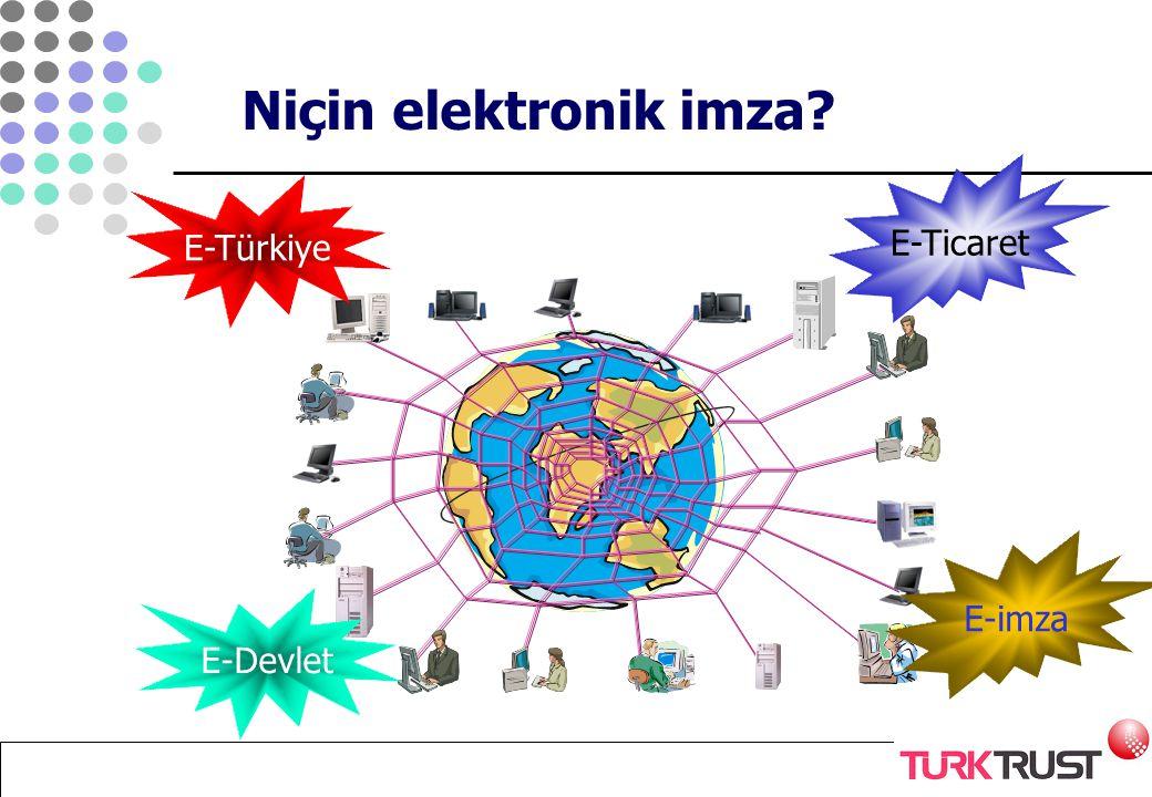 Niçin elektronik imza E-Ticaret E-Türkiye E-imza E-Devlet