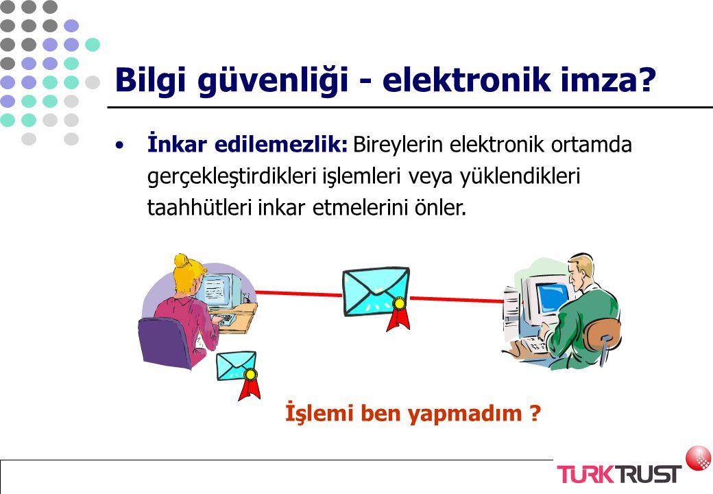 Bilgi güvenliği - elektronik imza