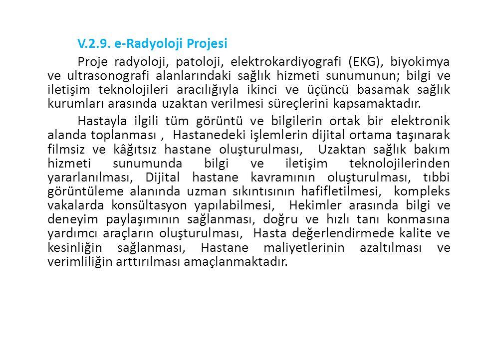 V.2.9. e-Radyoloji Projesi
