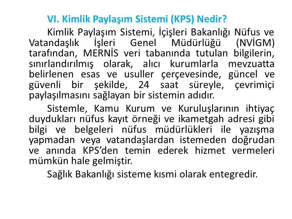 VI. Kimlik Paylaşım Sistemi (KPS) Nedir