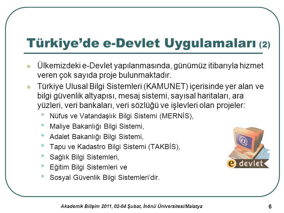 Türkiye'de e-Devlet Uygulamaları (2)
