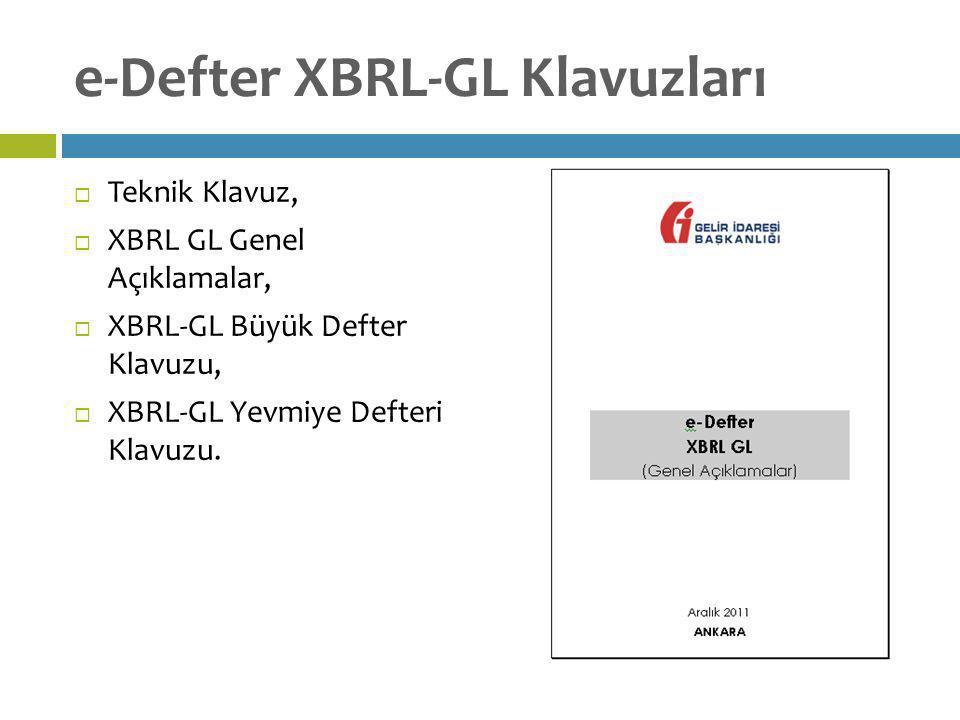 e-Defter XBRL-GL Klavuzları