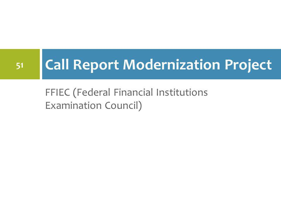 Call Report Modernization Project