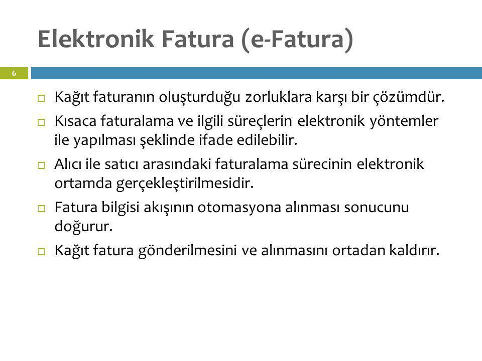Elektronik Fatura (e-Fatura)