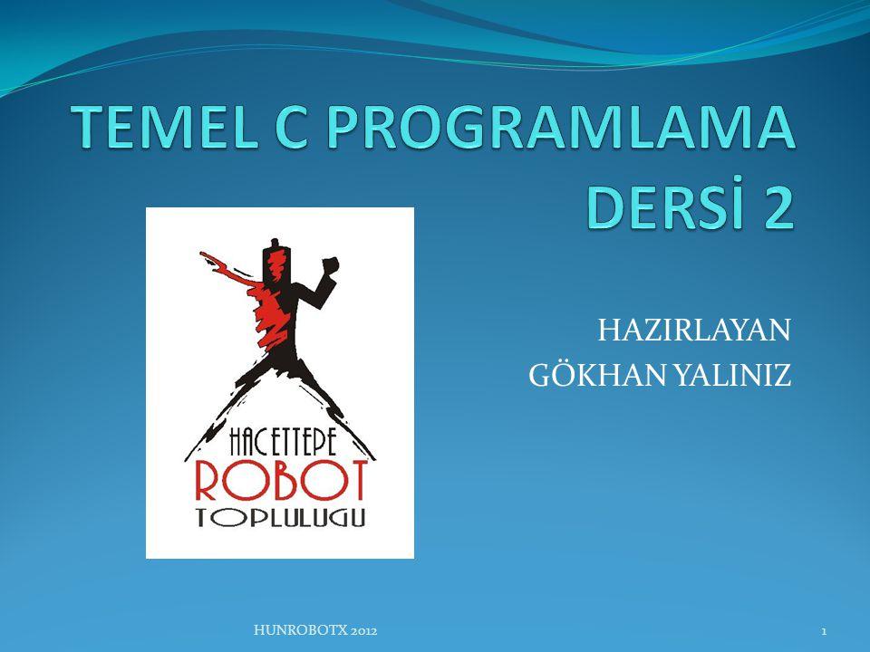 TEMEL C PROGRAMLAMA DERSİ 2
