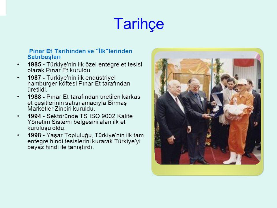 Tarihçe Pınar Et Tarihinden ve İlk lerinden Satırbaşları