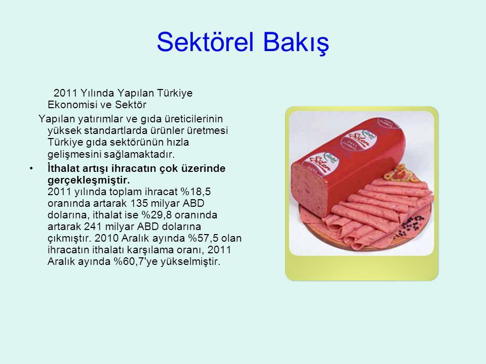Sektörel Bakış 2011 Yılında Yapılan Türkiye Ekonomisi ve Sektör