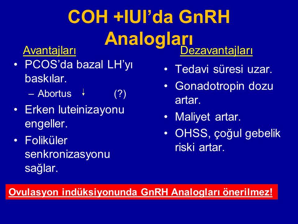 COH +IUI'da GnRH Analogları