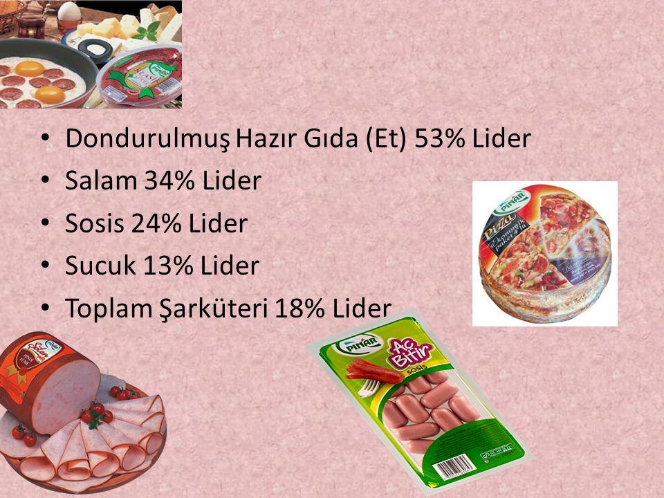 Dondurulmuş Hazır Gıda (Et) 53% Lider