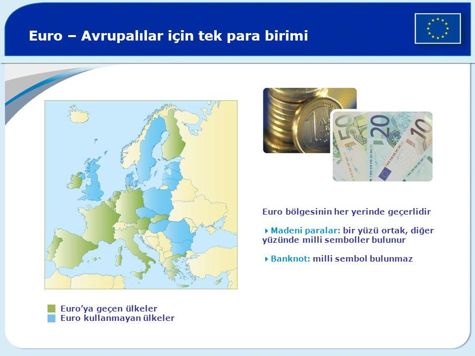 Euro – Avrupalılar için tek para birimi