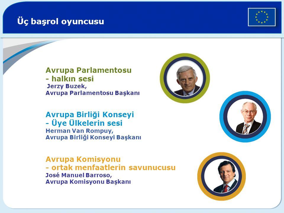 Üç başrol oyuncusu Avrupa Parlamentosu - halkın sesi Jerzy Buzek,