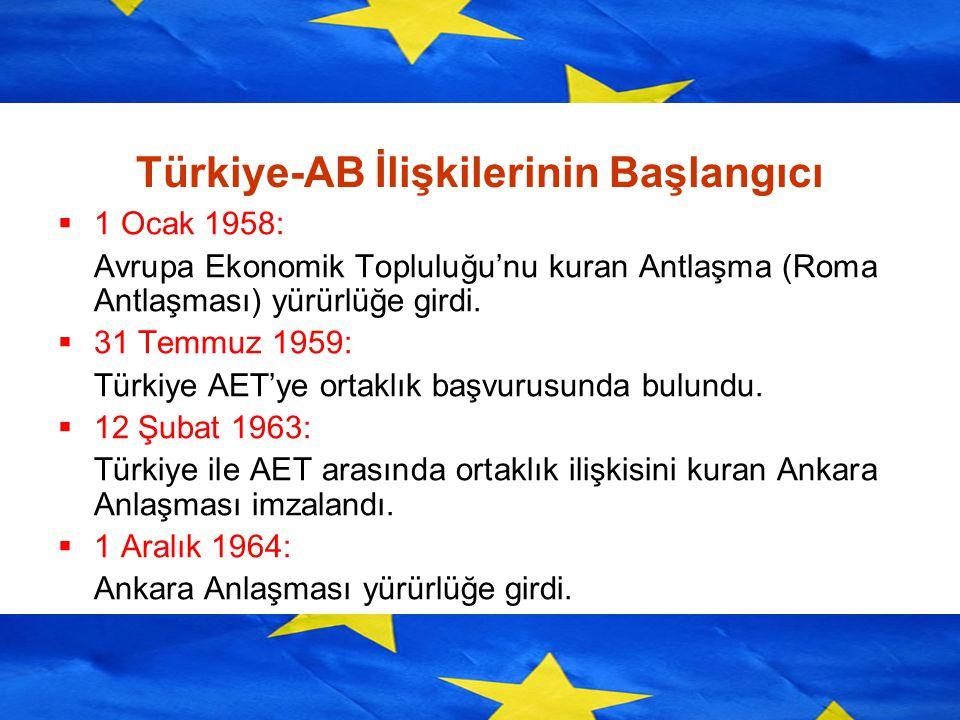 Türkiye-AB İlişkilerinin Başlangıcı