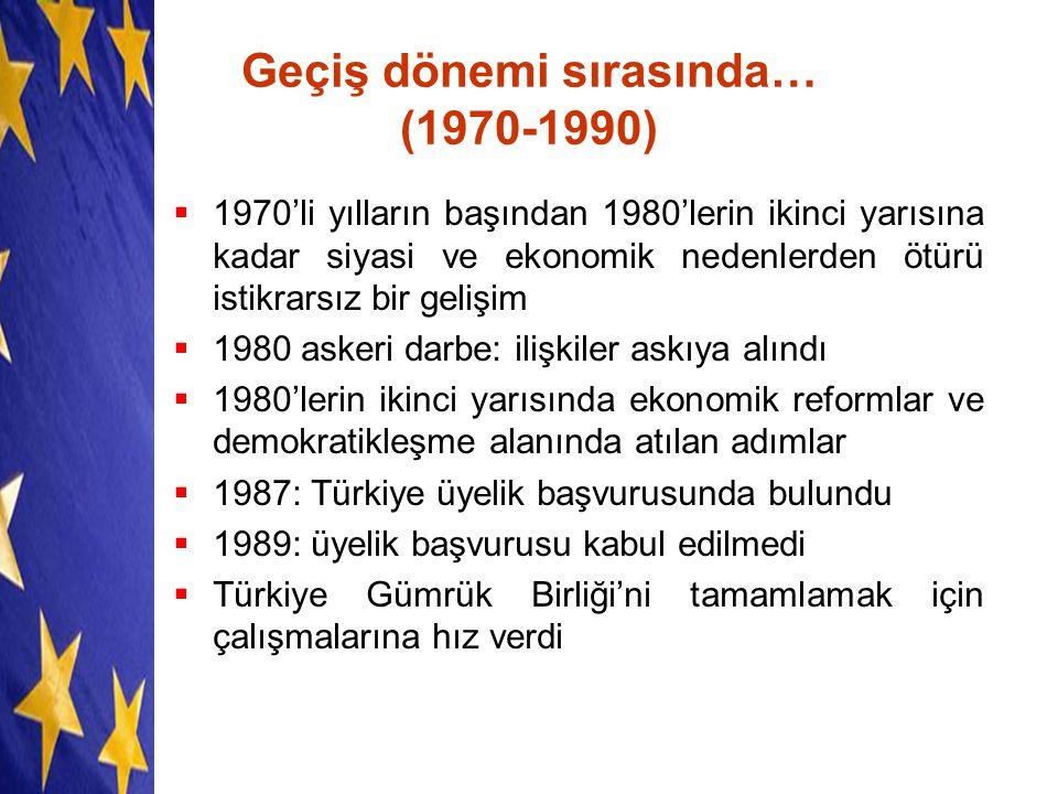 Geçiş dönemi sırasında… (1970-1990)