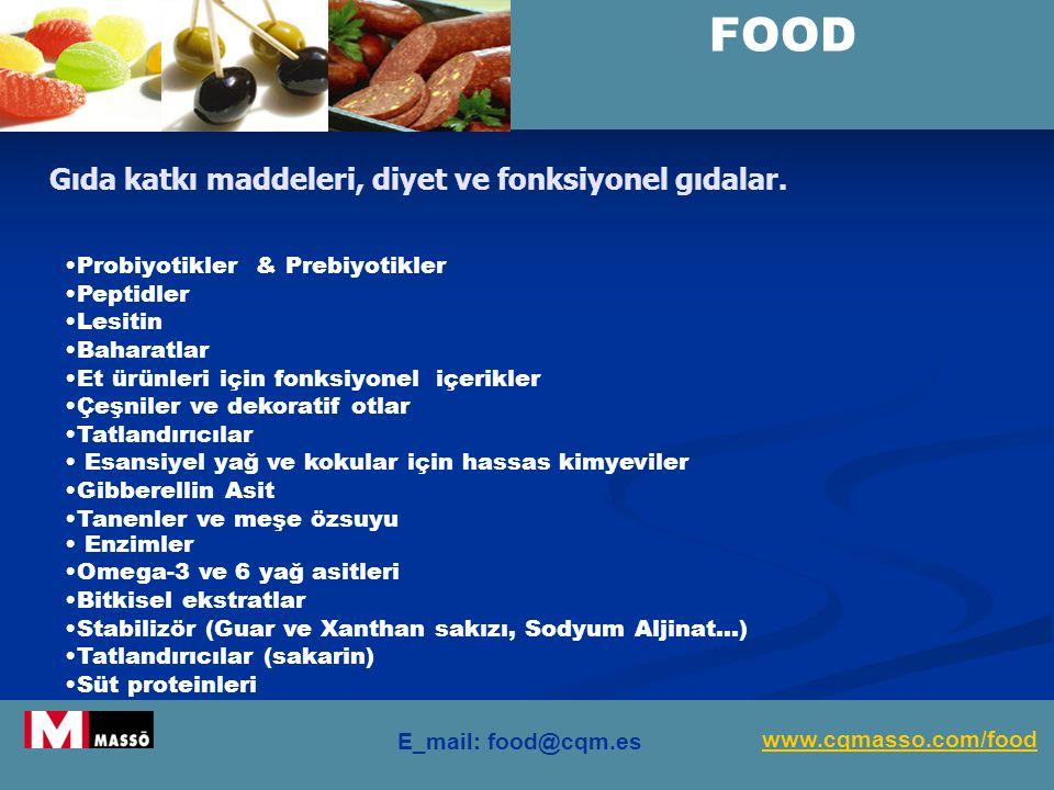 FOOD Gıda katkı maddeleri, diyet ve fonksiyonel gıdalar.