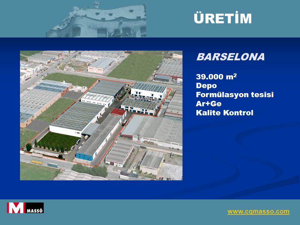 ÜRETİM BARSELONA 39.000 m2 Depo Formülasyon tesisi Ar+Ge