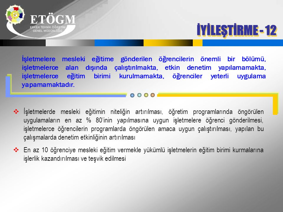 İYİLEŞTİRME - 12