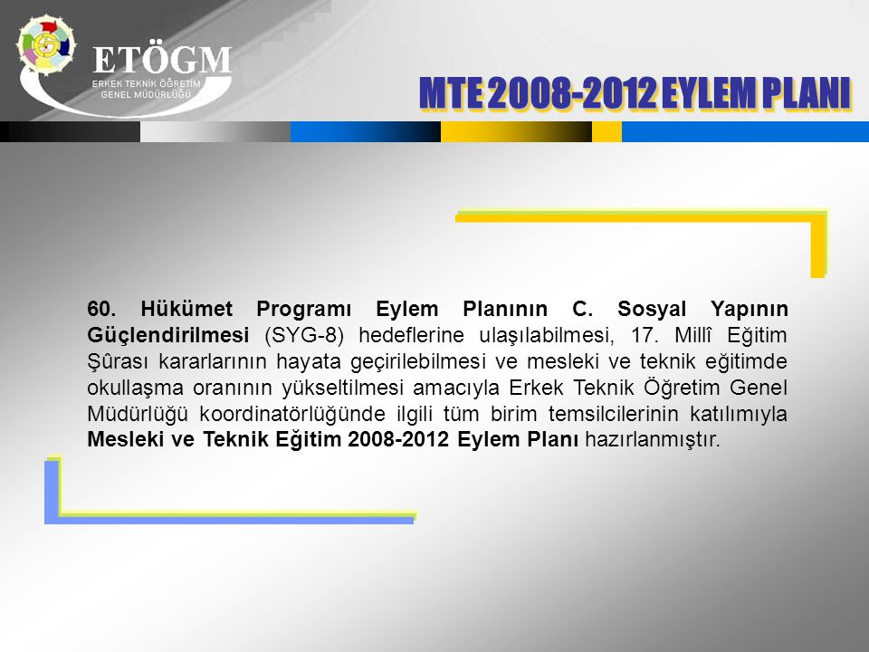 MTE 2008-2012 EYLEM PLANI