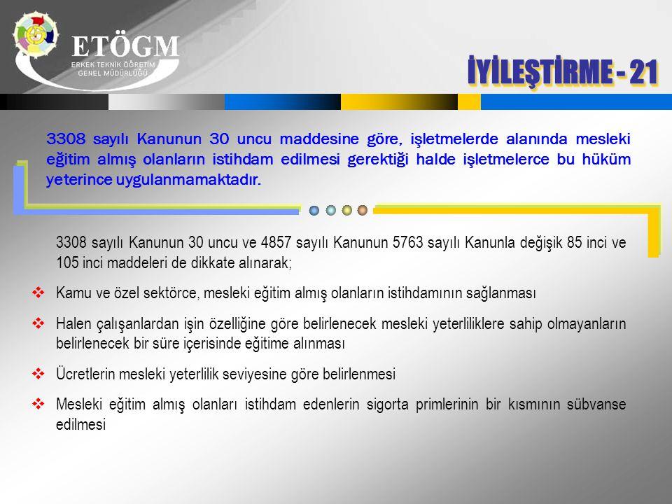 İYİLEŞTİRME - 21