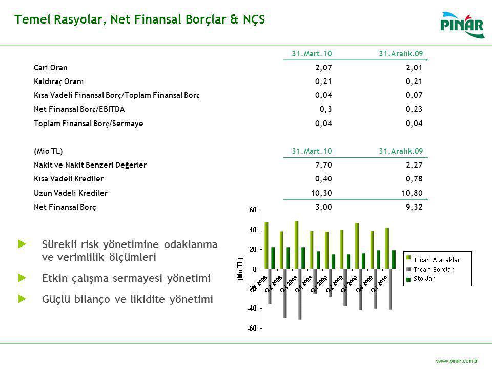 Temel Rasyolar, Net Finansal Borçlar & NÇS