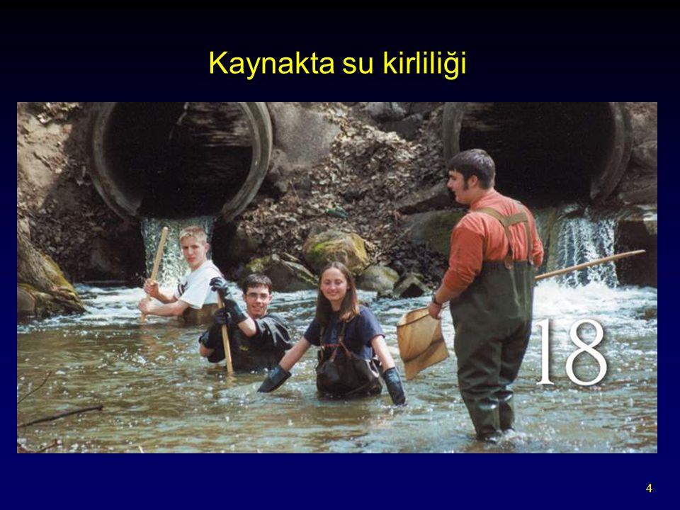 Kaynakta su kirliliği