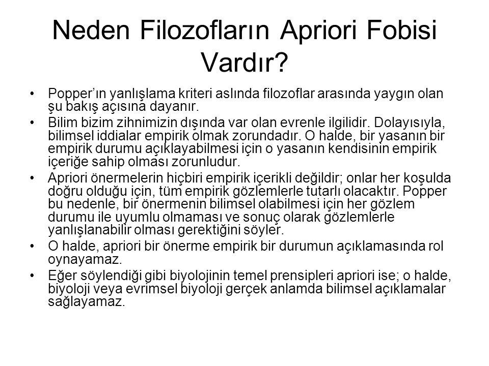 Neden Filozofların Apriori Fobisi Vardır