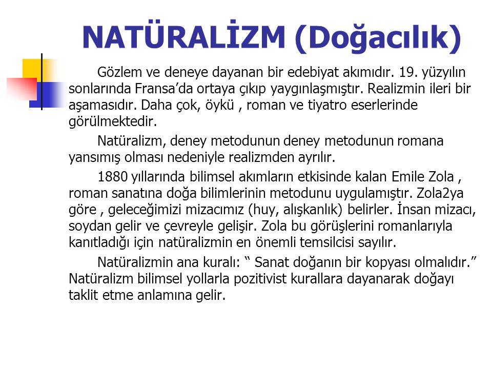 NATÜRALİZM (Doğacılık)