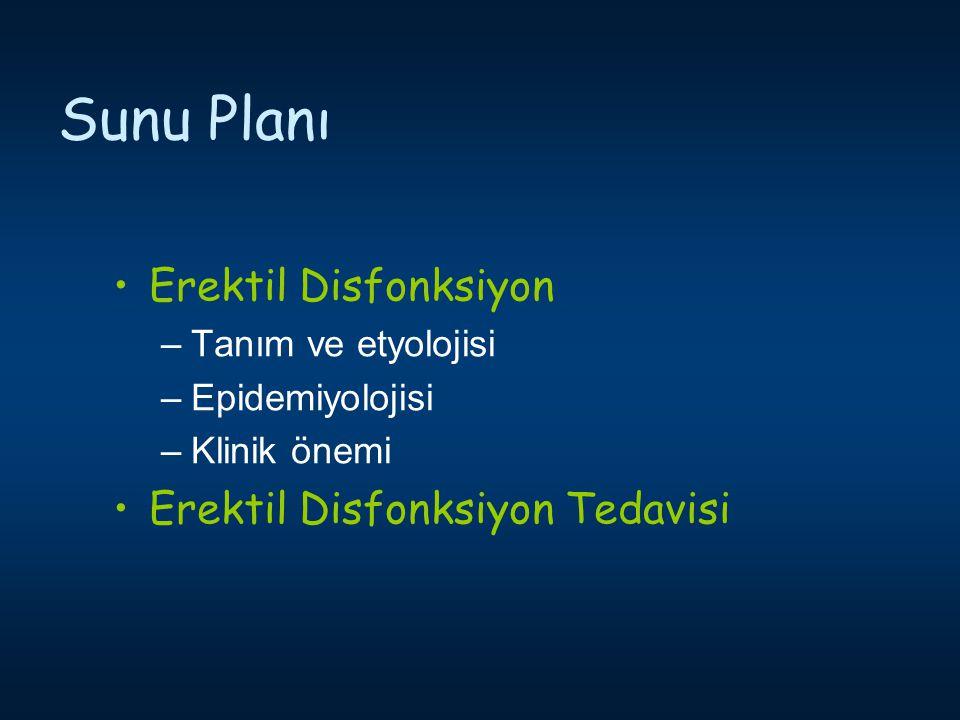 Sunu Planı Erektil Disfonksiyon Erektil Disfonksiyon Tedavisi