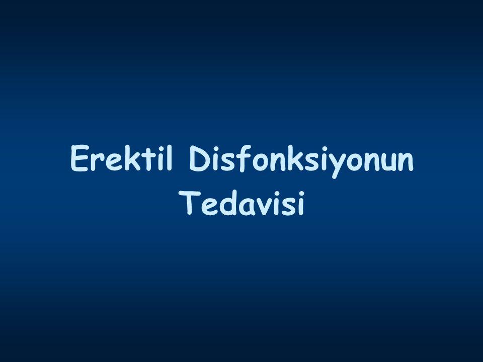 Erektil Disfonksiyonun Tedavisi