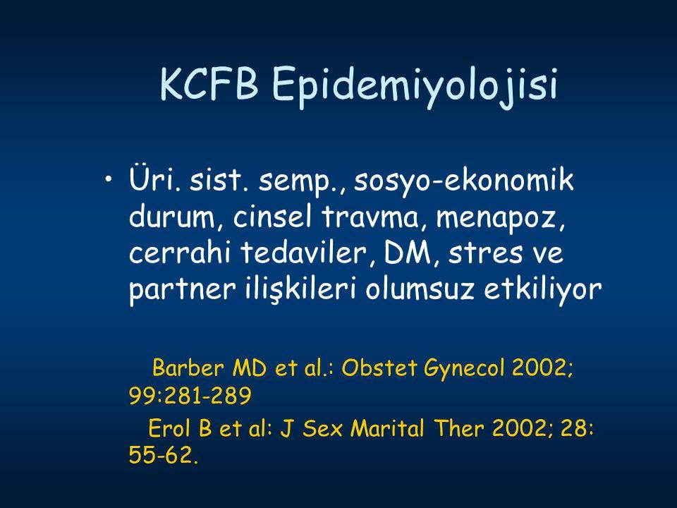 KCFB Epidemiyolojisi