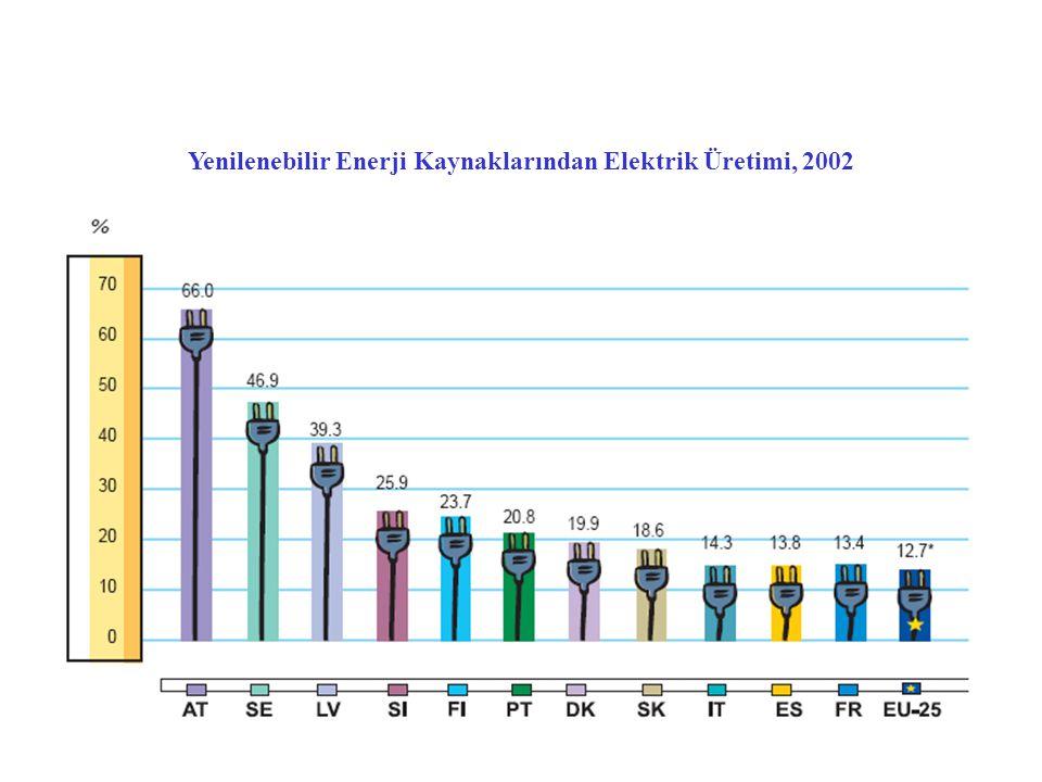 Yenilenebilir Enerji Kaynaklarından Elektrik Üretimi, 2002