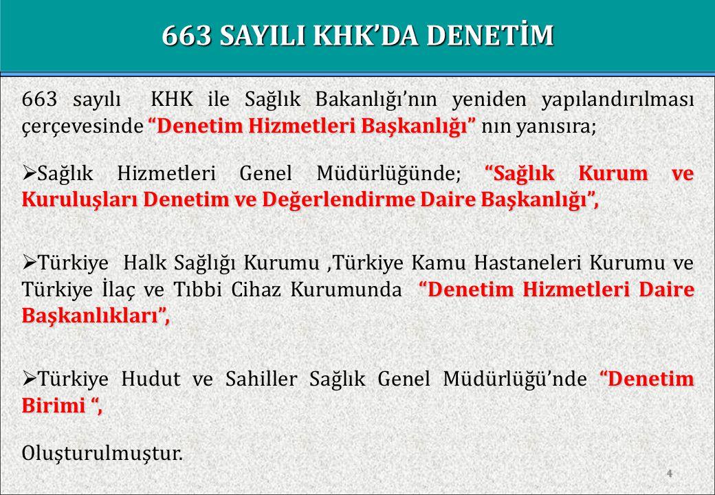 663 SAYILI KHK'DA DENETİM